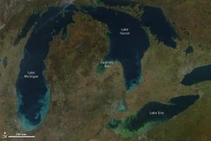 Lake Erie Algae Bloom from Space
