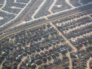 Urban sprawl suburbs of Houston, TX.