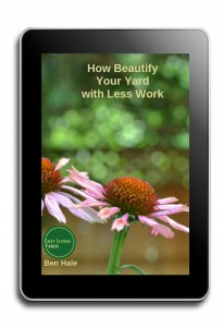 How to beautify your yard with less work ebook cover