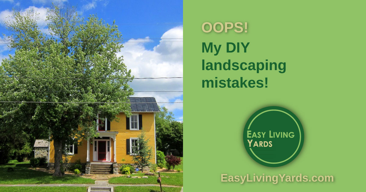 my DIY landscaping mistakes