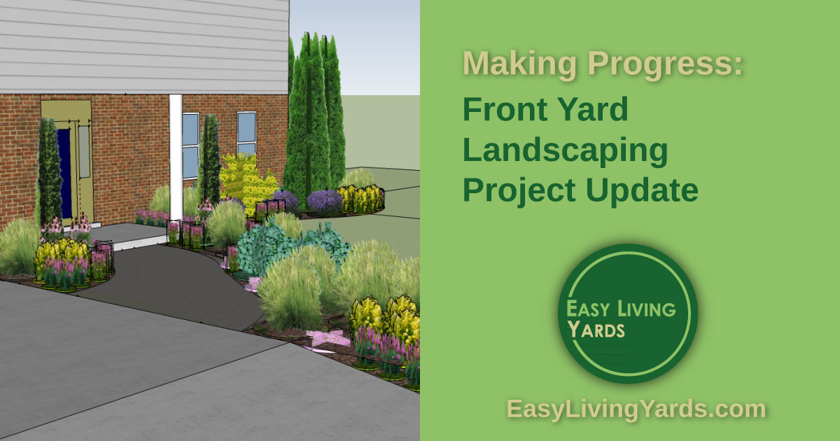 Front yard Landscaping Project Update