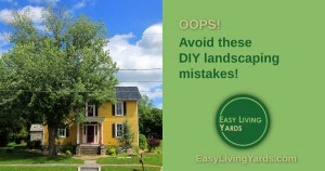 Common DIY landscaping mistakes