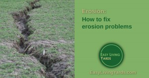 How to fix erosion problems