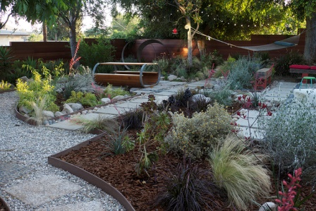 Residential greywater garden