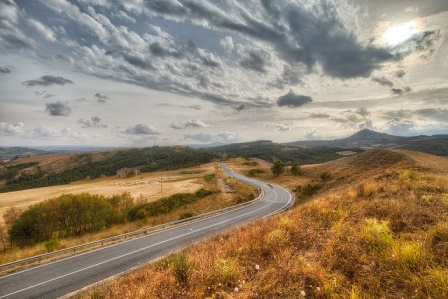 road on contour