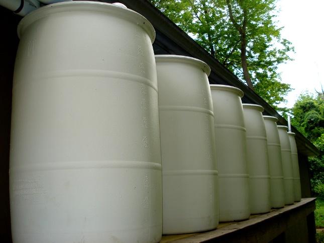 55-gallon rain barrels