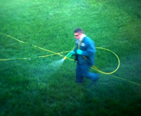 Chemical application to lawn
